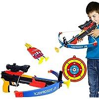 Mecotech Arcos y Flechas para Niños 6 Piezas Set Juego de Disparos de Juguete
