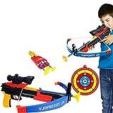 GUOGUO Pfeil und Bogen Kinder Bogenschießen Schießspiele mit Pfeilen, Pfeilhalter und Pfeil Ziel ab 6 Jahre, 41×36cm