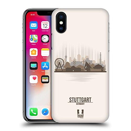Head Case Designs Hamburg Stadtsilhouette - Deutschland Ruckseite Hülle für Apple iPhone 5 / 5s / SE Stuttgart