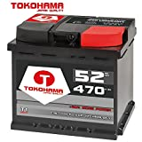 Tokohama Autobatterie 12V 52AH 470A/EN ersetzt 50Ah 44Ah 45Ah 46Ah 47Ah
