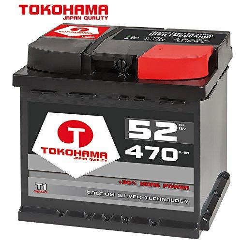 Preisvergleich Produktbild Tokohama Autobatterie 12V 52AH 470A / EN ersetzt 50Ah 44Ah 45Ah 46Ah 47Ah