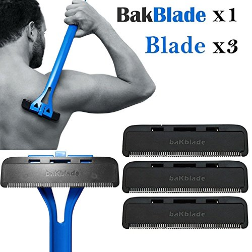 Beauties Factory 1x Bakblade with 3 Back Hair Remover Shaver Set for Mens Easy to Use Razor CODE: Bak-Blade-01