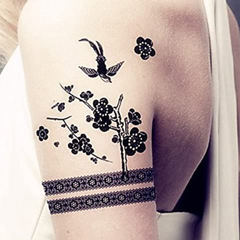 HJLWST® gioielli tatuaggi temporanei moda sexy body art impermeabili adesivi tatuaggio 5pcs (dimensioni: 3.74 '' da 6,69 '')