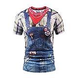B-commerce Männer 3D Print Kurzarm Unisex Shirt Rude Stag Party Kostüm Offensive Brüste T Demin Hip Pop Mode Mann Kleidung