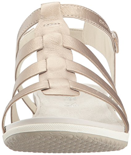 Geox Vega A, Sandales Bout Ouvert Femme Or (Champagnecb500)