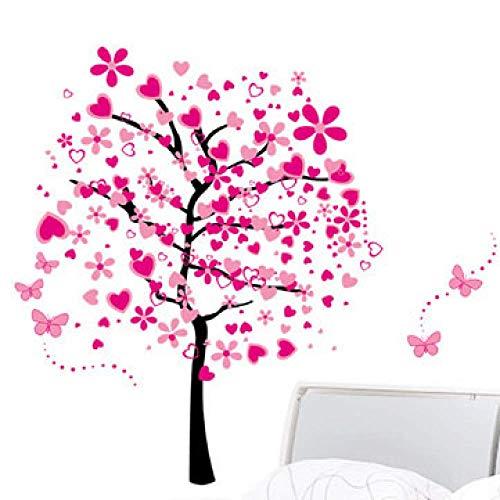 Romantische Reiche Baum-Blumen-Baum-Wand-Aufkleber, Mädchen-Schlafzimmer-Dekorations-Tapete, Inneneinrichtung-Hintergrund-Aufkleber 60 * 90 Cm * 2