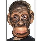 Cagoule chimpanzé - brun | Masque de singe pour enfants | Cagoule d'animal | Masque gorille