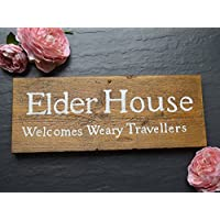 Wooden Exterior House Name Sign | Cottage | Barn | Farm | Advertising | Swinging | Hanging | Wall | Outside | Personalised | Rustic