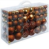 Deuba Palle di natale 100 pezzi palline natalizie decorazioni natale Palle albero di natale Decorazione Natalizia marrone