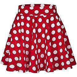 Lenfesh Moda Faldas Cortas Mujer Verano Falda Cóctel Estampado a Lunares para Mujer Mini Falda Fiesta Alta Cintura Vestir