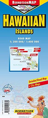 Hawaiian Islands 1:200 000/ 1:400 000 +++ Hawaiian Islands, Hawaii (Big Island), Honolulu, Kahoolawe, Kauai, Kilauea Caldera, Lanai, Maui, Molokai, ... (Road Map/ Landkarte) [Folded Map/ Faltkarte]