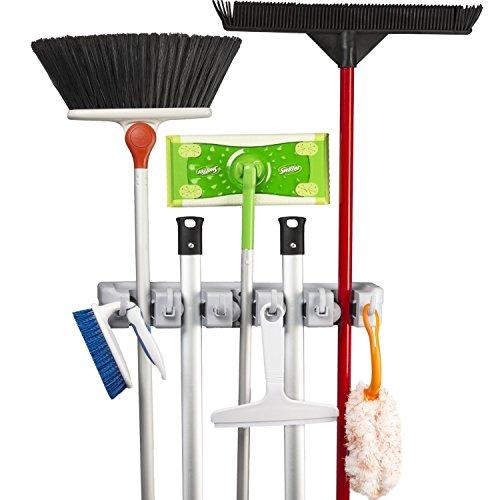 KINGTOP Universal Gerätehalter Wandhalterung Garage für Besen, Mopp und Gartenwerkzeuge
