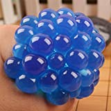 Missley Squishy Mesh 1Pc Stress Relief Squeezing Soft Gummi Vent Traube Ball Hand Handgelenk Spielzeug (Crystal blue-08)