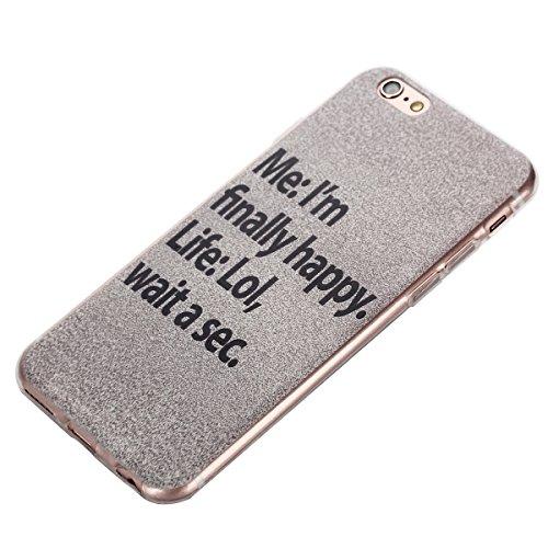 Voguecase® Per Apple iPhone 5 5G 5S, Custodia Silicone Morbido Flessibile TPU Custodia Case Cover Protettivo Skin Caso (Pinguino con palloncini) Con Stilo Penna Im happy
