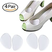 Gel Metatarsal Pads Ball of Cuscini del Piede Inserto di scarpa autoadesivi del piede anteriore(4 paia), alleviare il dolore del piede per i pattini dell'alto tallone (4 paia)
