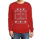 Winter Is Coming Pullover Rot Medium Sweatshirt - Motiv für Weihnachten