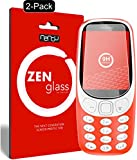 nandu I ZenGlass [2 Pezzi] Pellicola Protettiva in Vetro per Nokia 3310 I Protezione Schermo 9H I (più Piccolo del Display Curvo)
