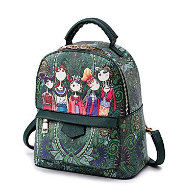 Frauen Rucksack PU alle Jahreszeiten Hochzeit Event / Party Casual Formal Outdoor Büro & Karriere Runde Zipper Lila Rot Grün Purple