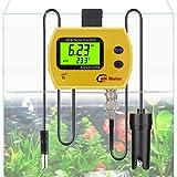 PH Monitor, RISEPRO® Digital PH Temperaturmonitor mit austauschbarer BNC PH Sonde und Adapter (gelb) PH-991