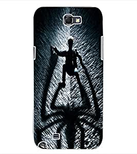 ColourCraft SuperHero Design Back Case Cover for SAMSUNG GALAXY NOTE 2 N7100