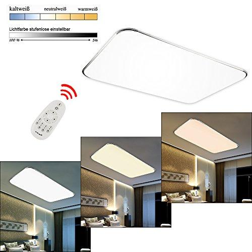 Hengda® 96W LED Dimmbar Deckenlampe 2700-6500K Leuchte Deckenleuchte IP44 Badezimmer geeignet Lampe
