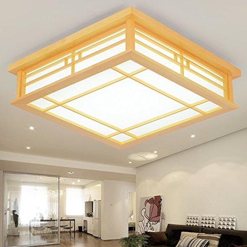 LYXG Plafond japonais lampe à LED lampes en bois tatami s'allume (450mm*450mm*120mm), chambre balcon sciage lumière chaude