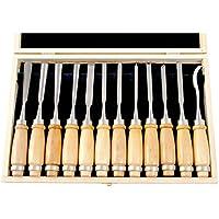 EXTOL PREMIUM 8812405 - Juego de cinceles para tallar madera (12 piezas)