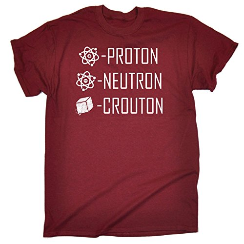 a847adf08e5 123t Men s Proton Neutron Crouton Science T Shirt Professor Chef Cooking  Tee Physics Chemistry Scientist Geek