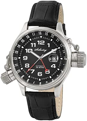Stolzenberg ST2100290002 - Reloj analógico automático para hombre, correa de cuero color negro de Stolzenberg