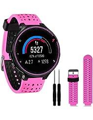 FeiliandaJJ Correa para Garmin Forerunner 230/235/630, con herramientas, color hot pink