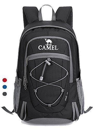Camel zaino da escursione, zaino da viaggio leggero, zaino da sport impermeabile resistente, per il campeggio di pesca