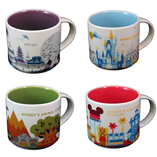 starbucks-disney-parks-set-of-4-mugs-epcot-magic-kingdom-hollywood-studios-animal-kingdom-you-are-he