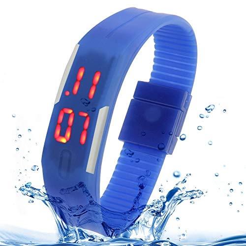 ALLSHOPSTOCK (#117 Fashion Waterproof Silikon Armbanduhr mit LED Display (Dark Blue) Sony Bluetooth-laptops
