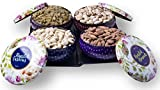 #10: PREMIUM Gift Box - Almonds, Cashews, Pistachios (Roasted) & Raisins - 800g ( 4 Bowl Tins)