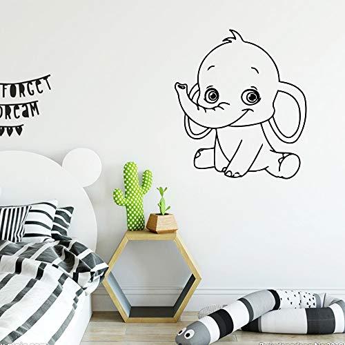 zxddzl Beauty Lovely Elephant Decal Rimovibile Vinile Murale Poster Decorazioni da Parete Camera per Bambini Decalcomania Adesivi creativi-68x60cm