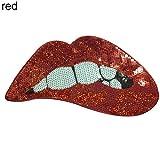 wfz17DIY Einhorn Lippenstift Rose Pailletten bestickt Tuch Jeans Iron On Patches Aufnäher, Lipstick, Einheitsgröße