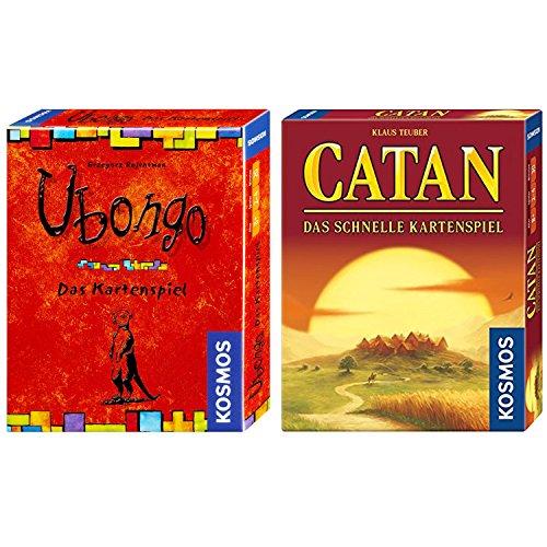KOSMOS 2er Set 740221 740214 Catan - Das schnelle Kartenspiel + Ubongo - Das Kartenspiel