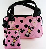 Disney Minnie Mouse Handbag and Purse (Pink/ Black)