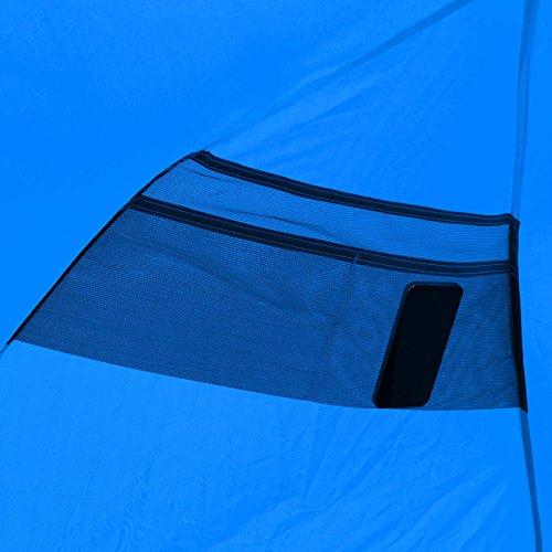 Qeedo Quick Bay Strandmuschel mit UV-Schutz und 360° Panorama View - blau -