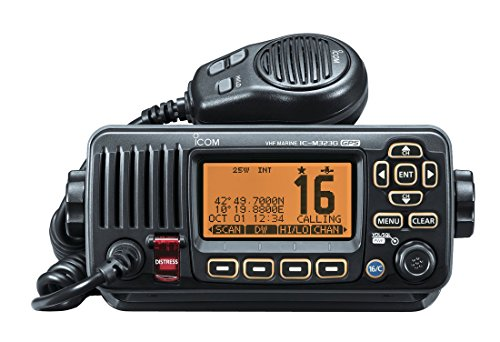 ICOM Compact UKW DSC Radio mit eingebautem GPS-Schwarz Feste Vhf Marine Radio