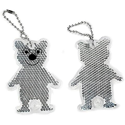 Salzmann simpatico orso riflettente accessorio acrilico, bambini