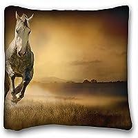 Decorative Square Throw Pillow Case animals Fog