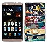 Fubaoda Ascend Mate 7 Hülle Case, [Kaffetisch] Ultra-Clear Huawei Ascend Mate 7 Case Silikon Soft TPU Premium Handyhülle Case Backcover Bumper Slim case für Huawei Ascend Mate 7