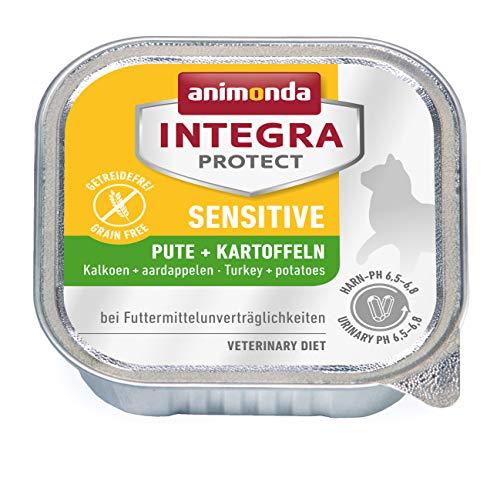 Animonda Integra Protect Sensitive mit Pute und Kartoffel | Diät Katzenfutter | Nassfutter bei Futtermittelallergie (16 x 100 g)
