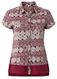 White Stuff New Burgundy Circle Print Cotton Jersey Blouse Shirt (8)