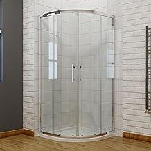 viertelkreis duschkabine 90x90 duschabtrennung mit rahmen runddusche schiebetr dusche duschwand - Bodenebene Dusche Glaswand