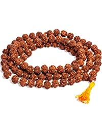 Saubhagya Global Rudraksha Jaap Mala for Pooja | Astrology | 108+1 Beads | 100% Pure & GJSPC Lab Certified