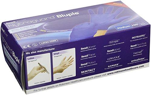 ReadiGloves 9547 Nytraguard Bluple Nitrile Gloves - Medium (Pack of 200) Test