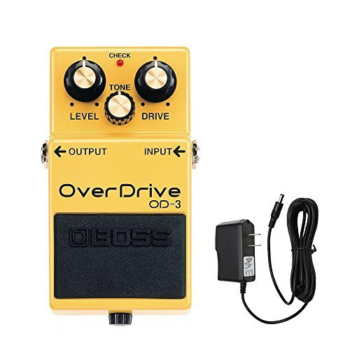 BOSS OD-3 pedal de overdrive con PigHog PP9V Powerpig 9V CC 1000 mA Fuente de alimentación
