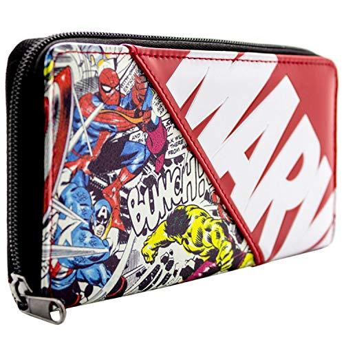 Marvel Avengers Charaktere Comic-Art Rot Portemonnaie Geldbörse (Avengers Erwachsene Kostüm)